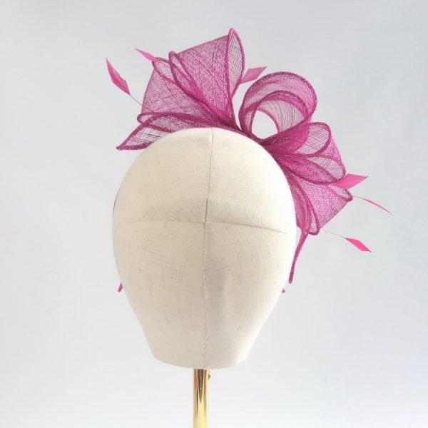 Dark Pink Bridesmaid Hair Accessories