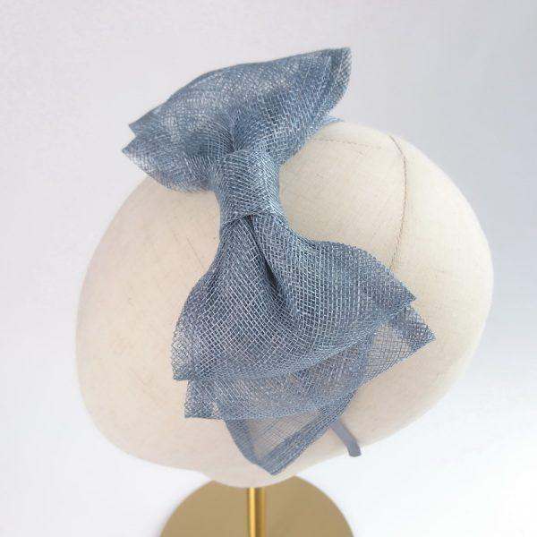 Dusky Blue Women's Bow Headbands