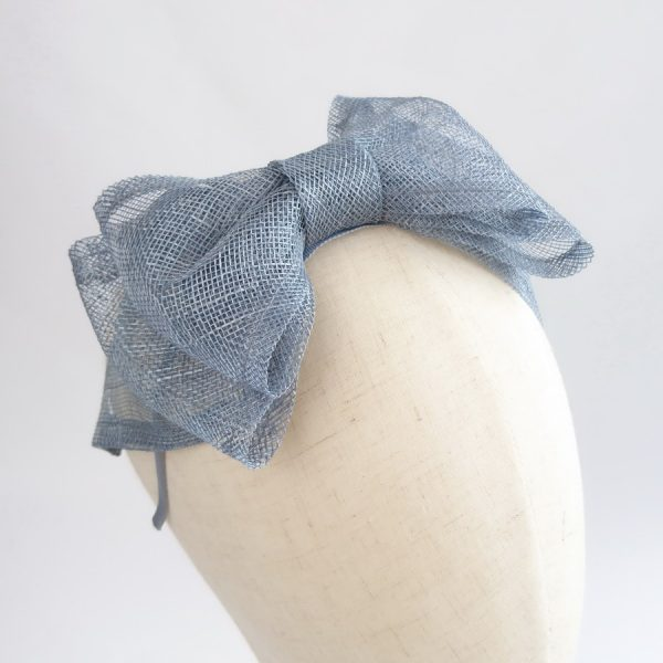 Dusky Blue Bow Fascinators