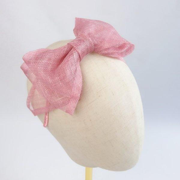 Dusky Pink Women's Bow Headbands