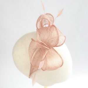 Gold Loop Fascinator with Coque Feathers