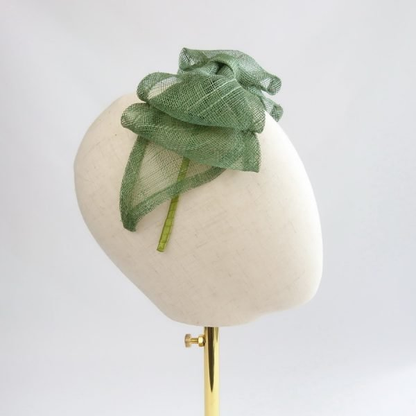 Green Feather Free Fascinators
