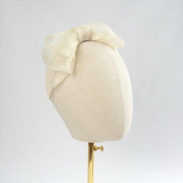 Ivory Bow Fascinators