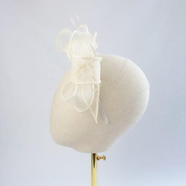 Ivory Feather Fascinators