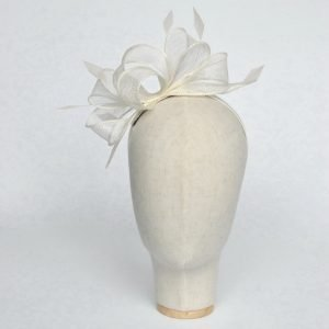Ivory Loop Fascinator with Coque Feathers