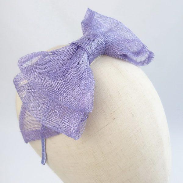 Lilac Large Sinamay Bow Fascinator