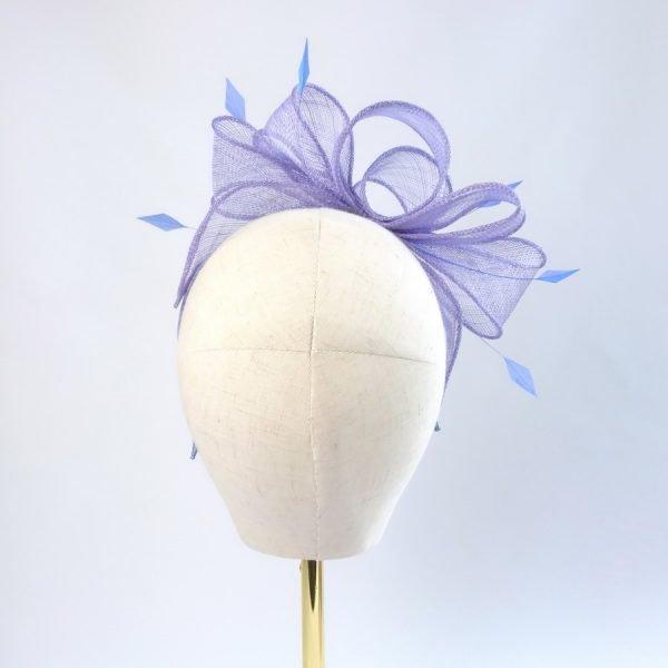 Lilac Feather Fascinators