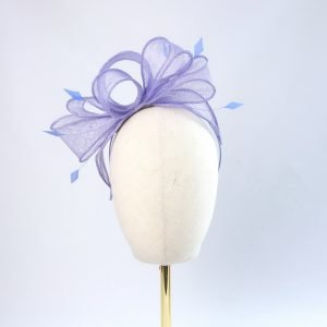 Lilac Loop Fascinator with Coque Feathers