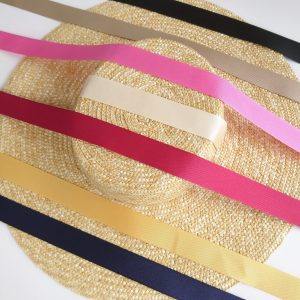 Detachable Ribbon Ties for Sun Hats shown with Natural Straw