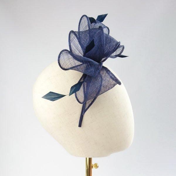 Navy Blue Bridesmaid Hair Accessories