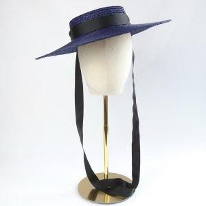 Navy Straw Boater Sun Hat