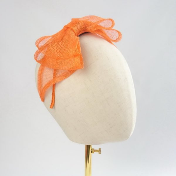 Orange Bow Fascinators