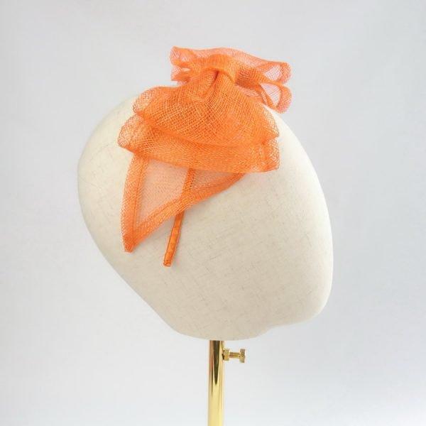 Orange Feather Free Fascinators