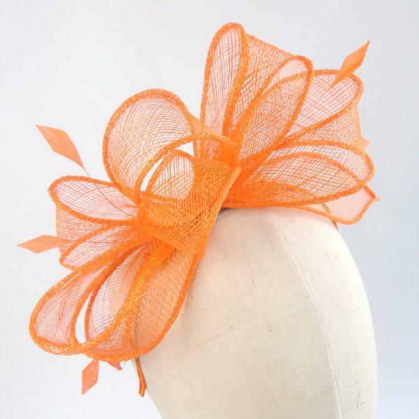 Orange Wedding Fascinators