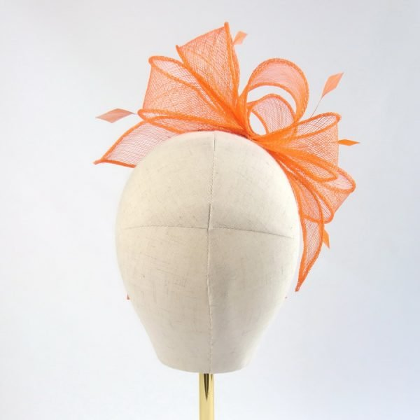 Orange Bridesmaid Hair Accessories