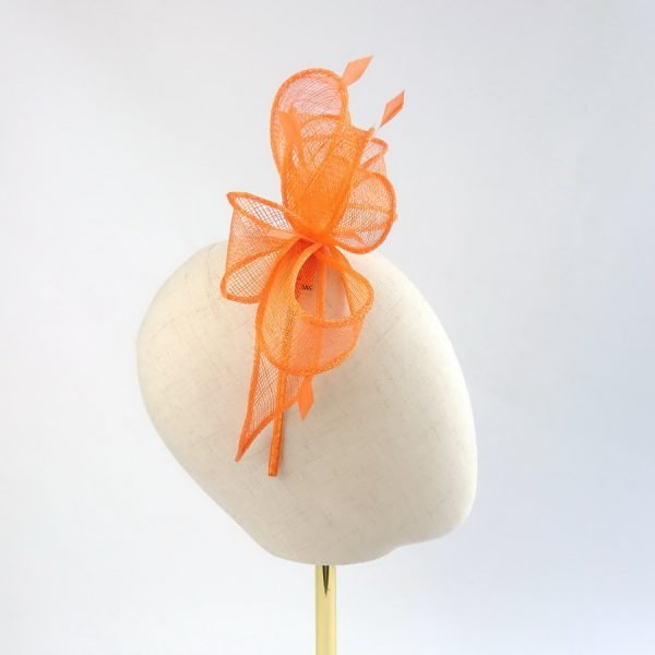 Orange Wedding Guest Fascinator