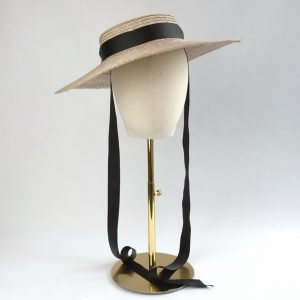 Oyster Straw Boater Sun Hat