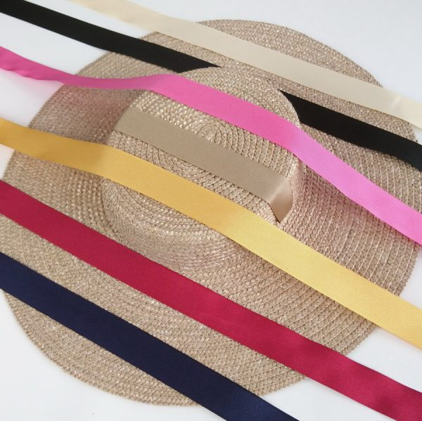 Detachable Ribbon Ties for Sun Hats shown with Oyster Straw