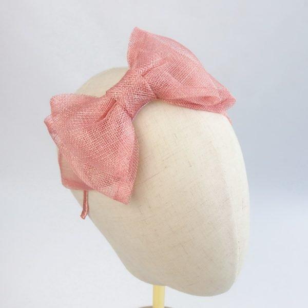 Peach Pink Women's Bow Headbands