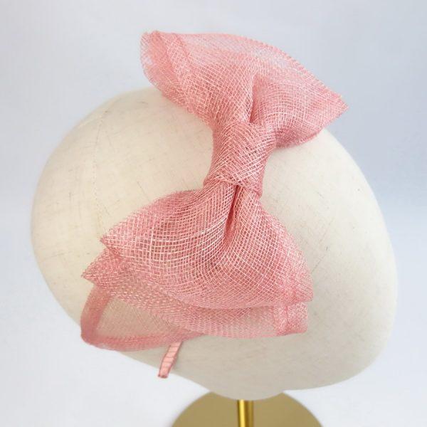 Peach Pink Fascinator by Imogen's Imagination