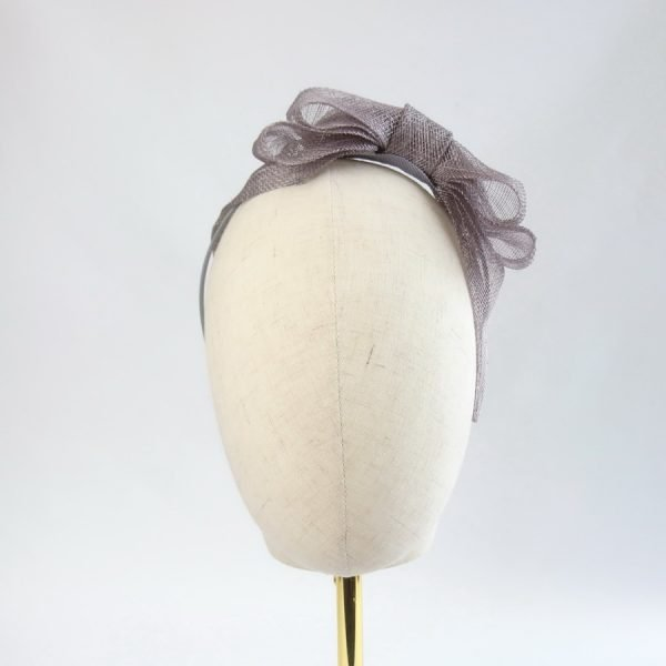 Pewter Grey Feather Free Fascinators