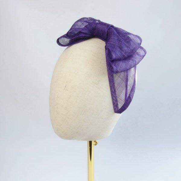 Purple Fascinator by Imogen's Imagination