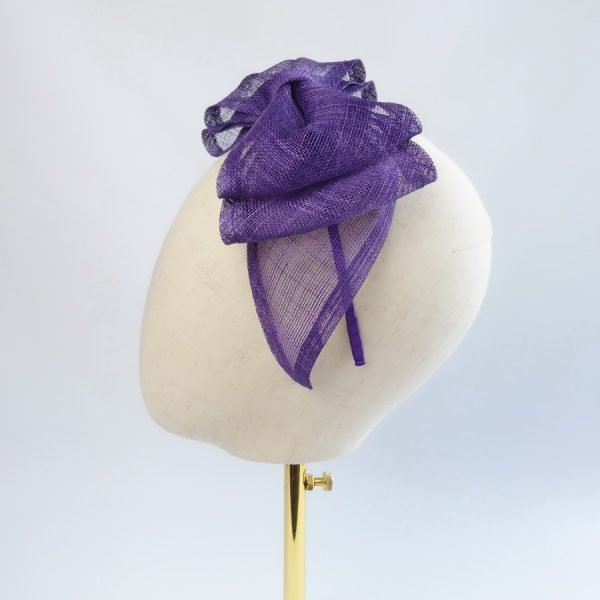 Purple Wedding Fascinators