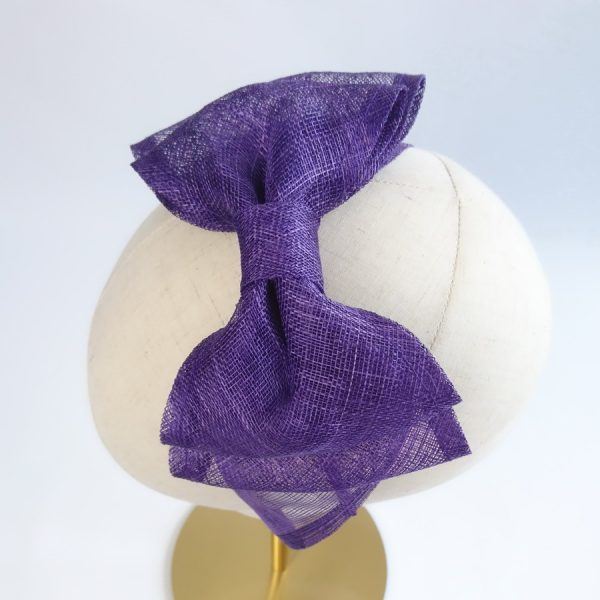 Purple Bow Fascinators