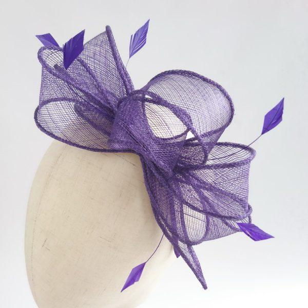 Purple Feather Fascinators
