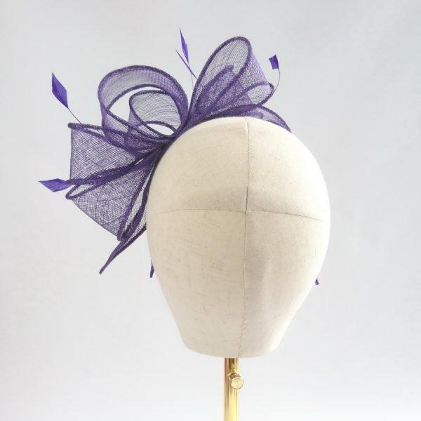 Purple Bridesmaid Hair Accessories