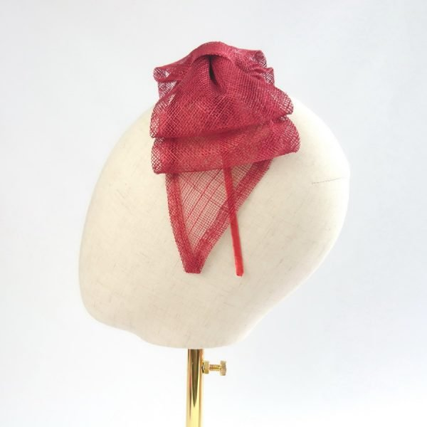 Red Bow Fascinators