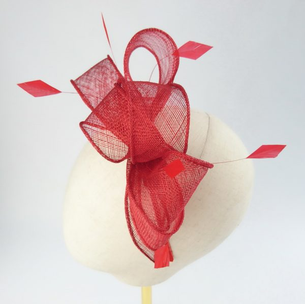 Red Feather Fascinators