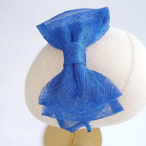 Royal Blue Bow Fascinators