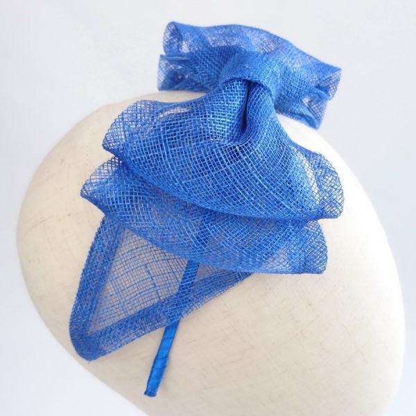 Royal Blue Feather Free Fascinators