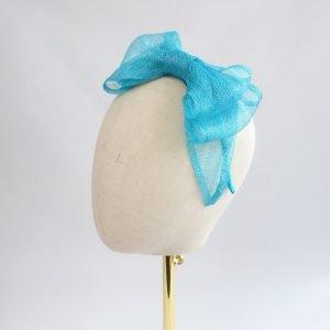 Turquoise Large Sinamay Bow Fascinator