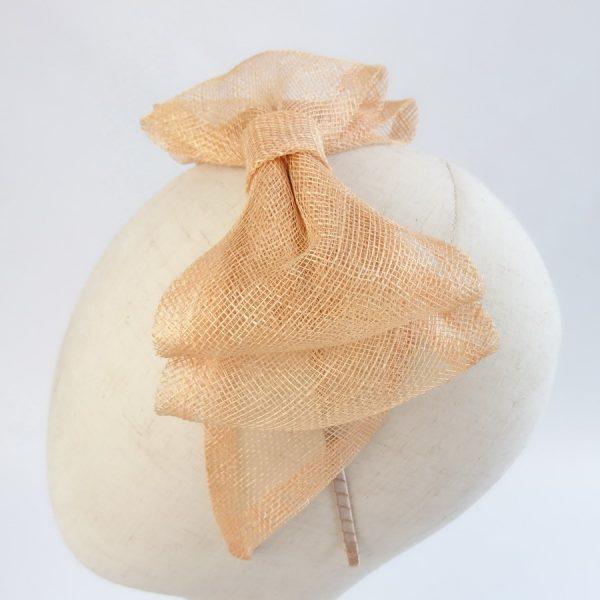 Apricot Wedding Fascinators