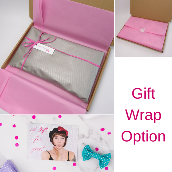 Imogen's Imagination beret in optional gift wrap packaging