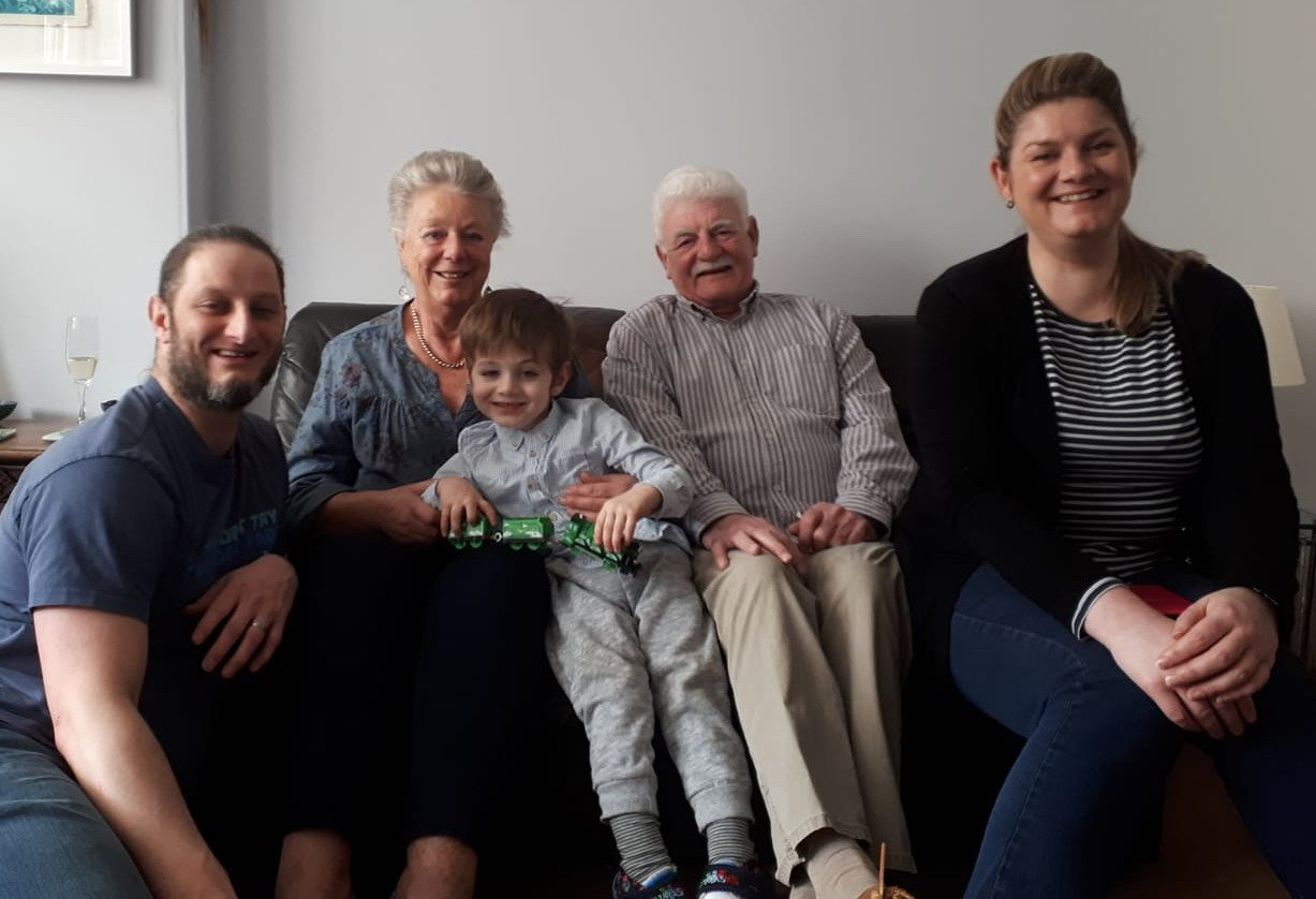 Sophie and her family in 2019